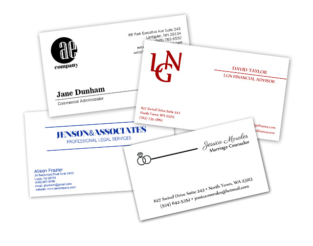 raised print business cards shipped to you - Business Card Printing San Diego